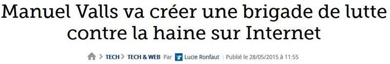 Manual Valls va créer une brigade de lutre contre la haine-28.05.2015