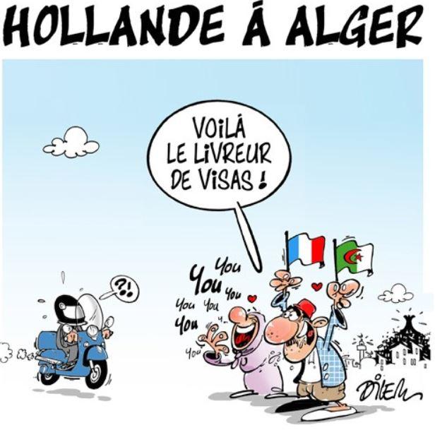 Dilem-Hollande à Alger livreur de visas