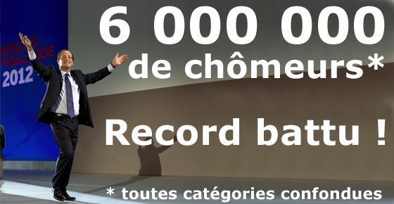 Hollande - 6 millions de chômeurs record battu -mai 2015