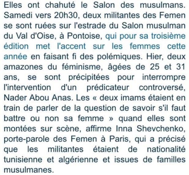 Femen à Pontoise - 12.09.2015