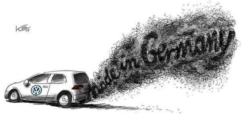 VW made in Germany - Klaus Stuttmann
