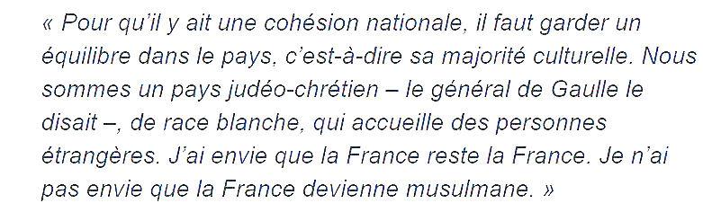 Nadine Morano-déclaration TV on n'est pas couché-sept 2015