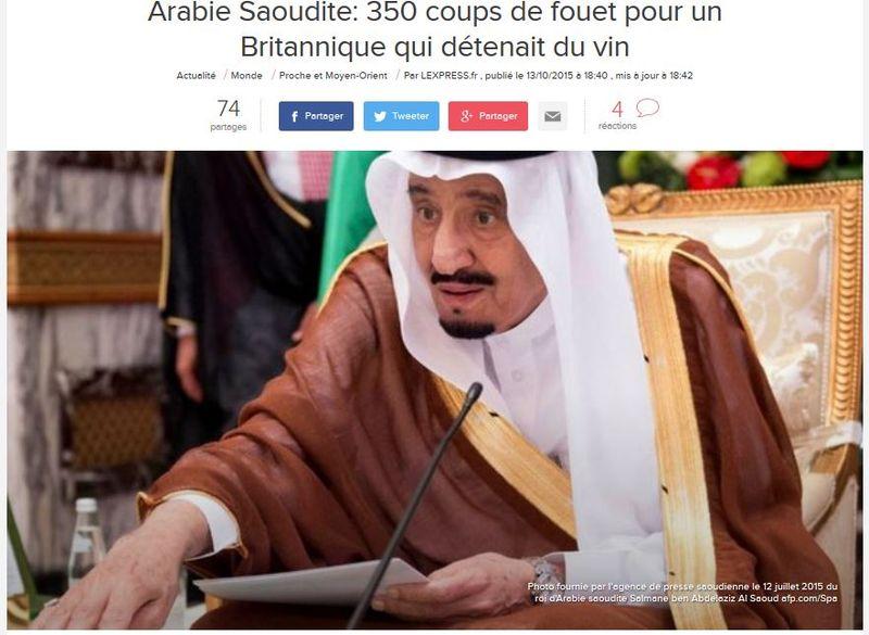 Arabie saoudite-350 coups de fouet-13.10.2015