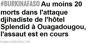 Burkina Faso attaque djihadiste-16.01.2016