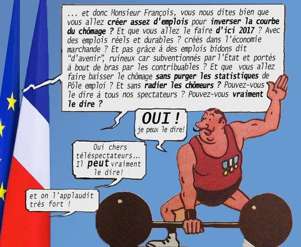 Hollande athlète de l'emploi
