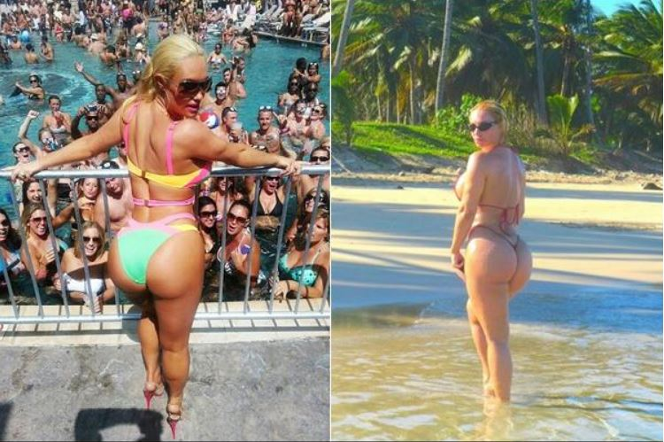 Coco épouse de Ice-T met son derrière en avant