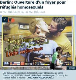 LE PARISIEN - Berlin foyer pour réfugiés homos-02.2016