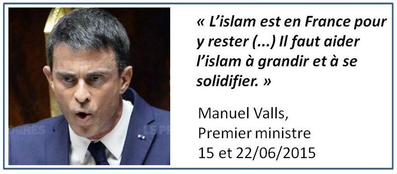 Valls-l'islam en France-juin 2015