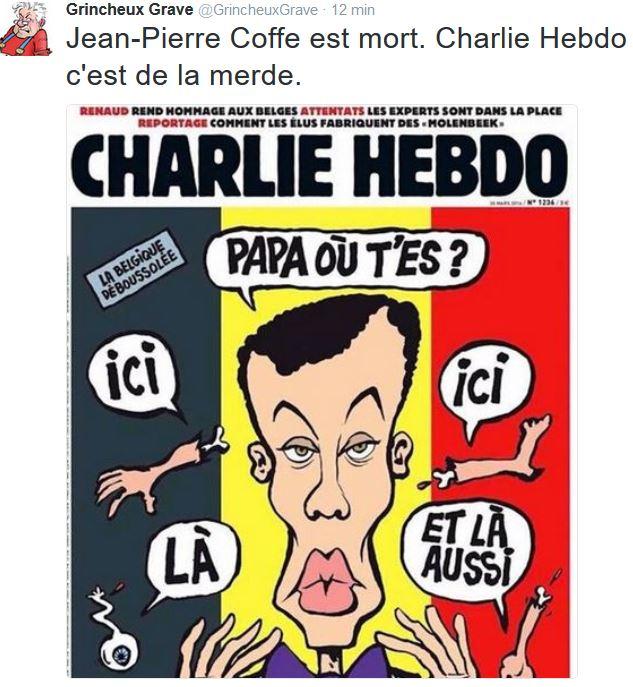 TWEET GG-Charlie Hebdo c'est de la merde-30.03.2016