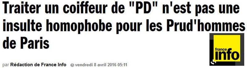 France Info -Traiter un coiffeur de PD-08.04.2016