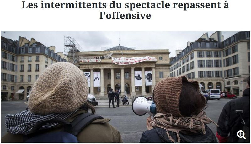 Les intermittents du spectacle repassent à l'offensive-27.04.2016