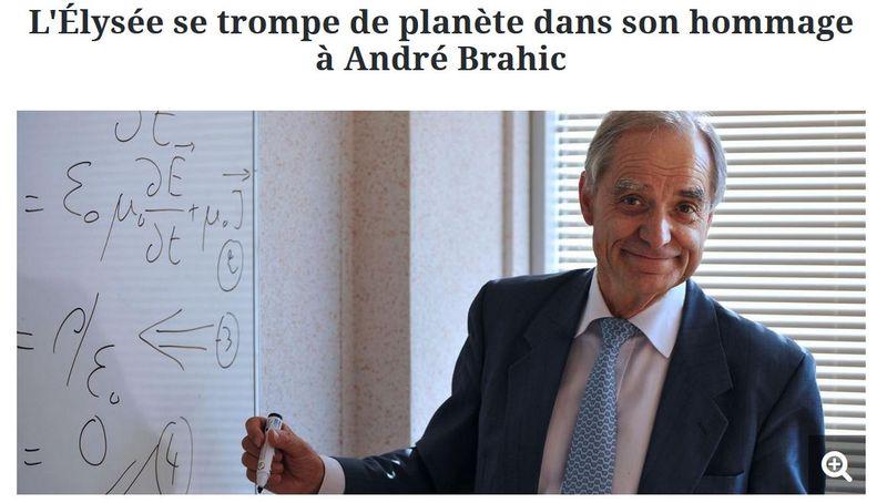 André Brahic - L'Elysée trompe de planète- 14.05.2016