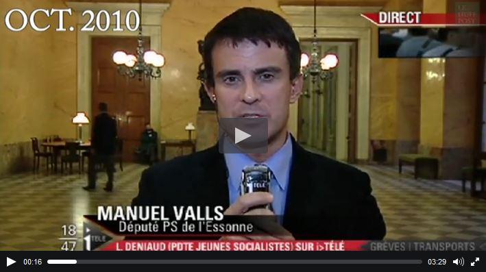 Manuel Valls sur iTélé -19.10.2010