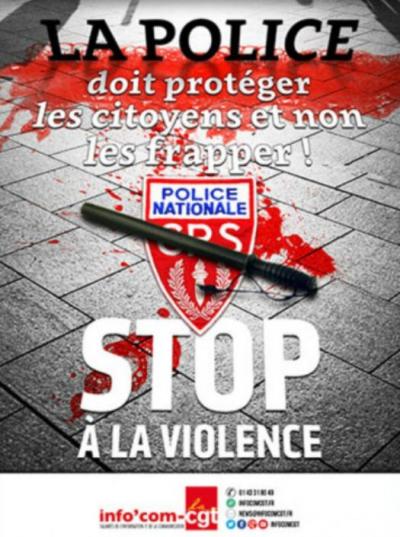 Affiche CGT contre la police-mai 2016
