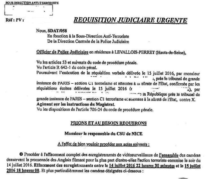 Le Figaro-Réquisition judiciaire vidéo Nice