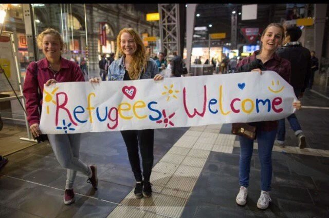 Gare de Munich - Refugees welcome-2015