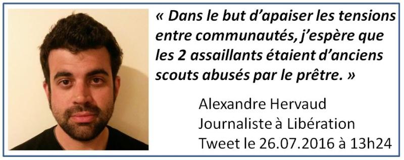 Alexandre Hervaud-journaiste Libération-tweet du 26.07.2016