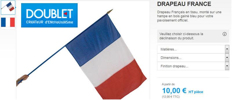 Drapeau Doublet 10 euros