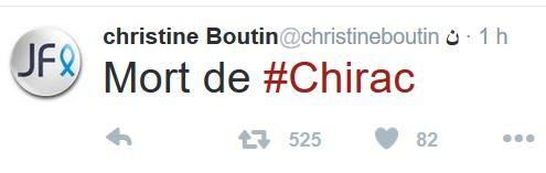 Boutin-Poisson, mort de Chirac