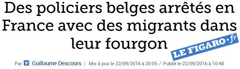 Policiers belges exportant des migrants-22.09.2016
