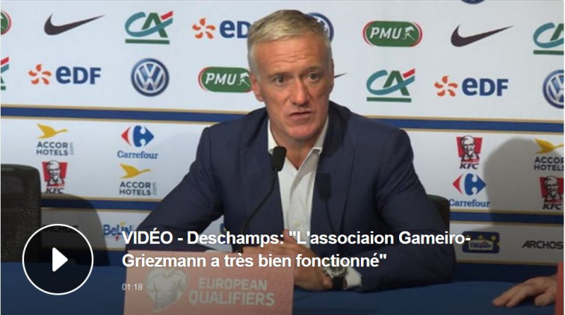Didier Deschamps-association GG Gameiro-Griezmann