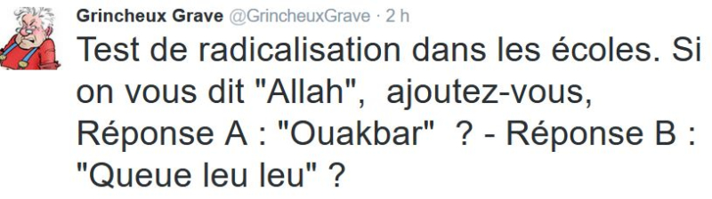 TWEET GG-Test de radicalisation-13.10.2016