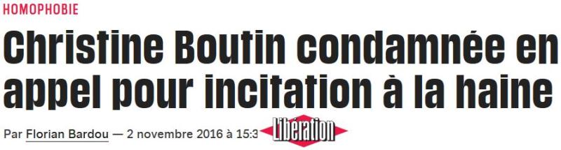 Christine Boutin condamnée en appel pour homophobie-02.11.2016