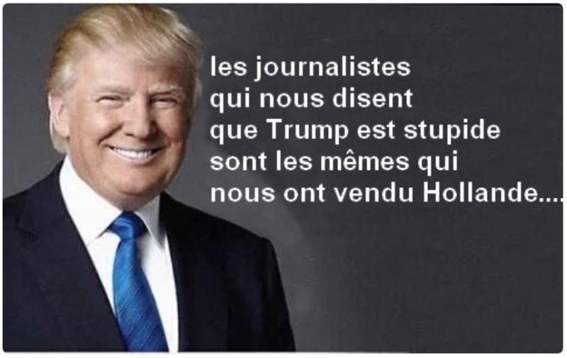 Les journalistes qui nous disent que Trump est stupide nous ont vendu Hollande