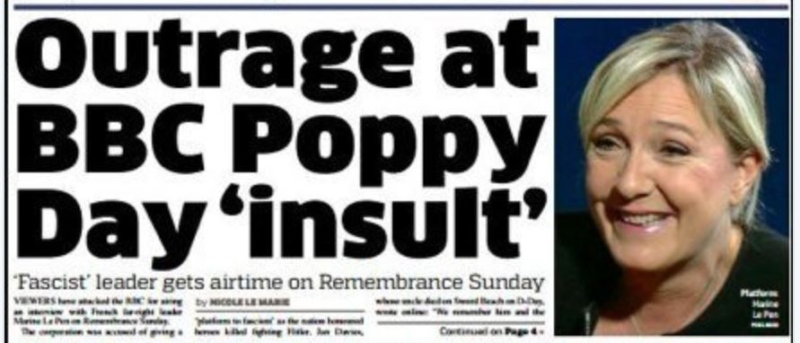 Outrage at BBC Poppy Day-METRO-13.11.2016
