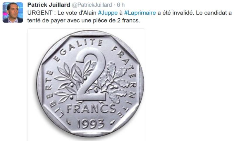 Juppé pièce de deux francs