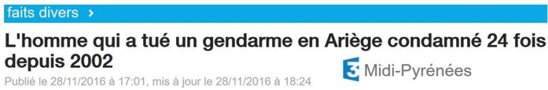 L'homme qui a tué un gendarme en Ariège-29.11.2016
