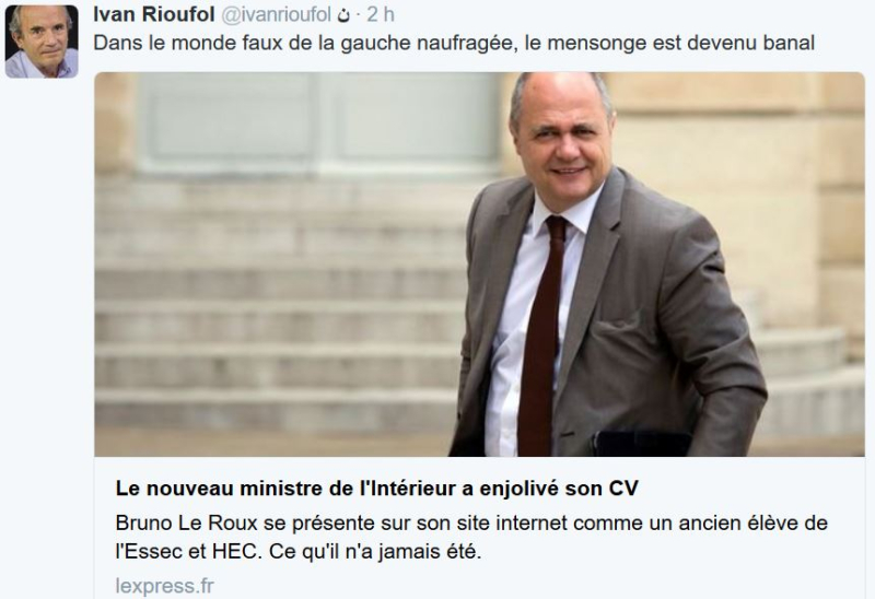 Bruno Le Roux gros mytho