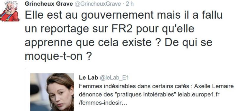 TWEET GG-Axelle Lemaire regarde la télé-10.12.2016