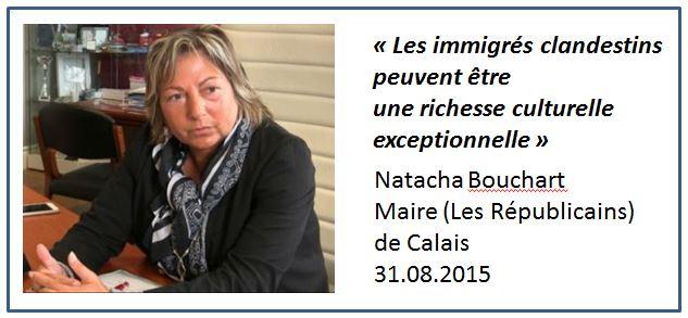 Natacha Bouchart déclaration sur les migrants
