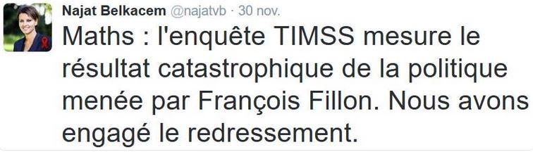 TWEET-Belkacem-enquête TIMSS-30.11.2016