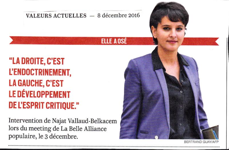 Belkacem-La droite c'est l'endoctrinement-03.12.2016
