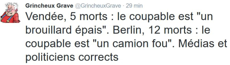TWEET GG - médias et politiciens corrects