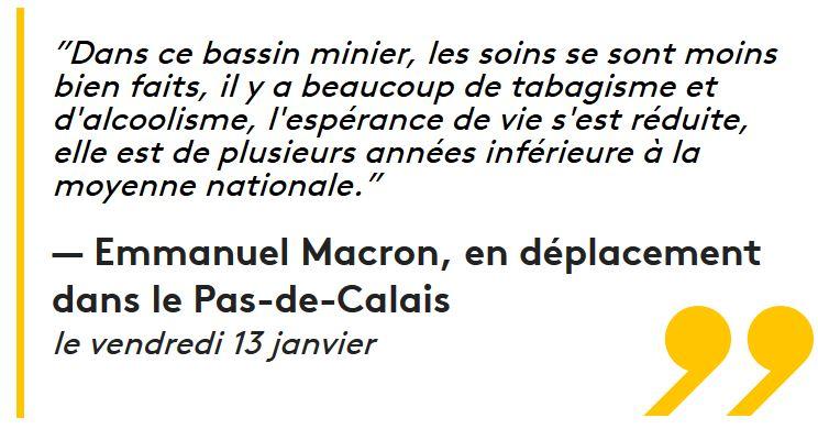 Macron l'alcoolisme et le tabagisme Ch'ti-13.01.2017