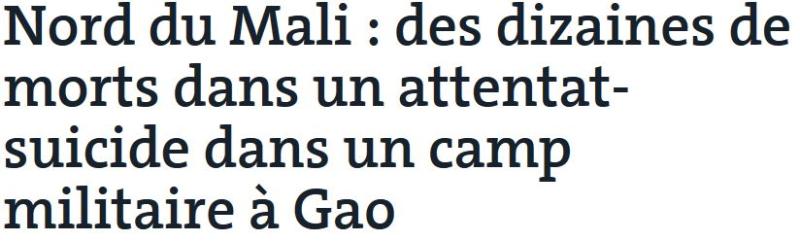 Mali-attentat suicide à Gao-17.01.20174