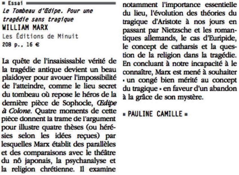 Penelope Fillon-Revue des Deux Mondes-Note de lecture 1