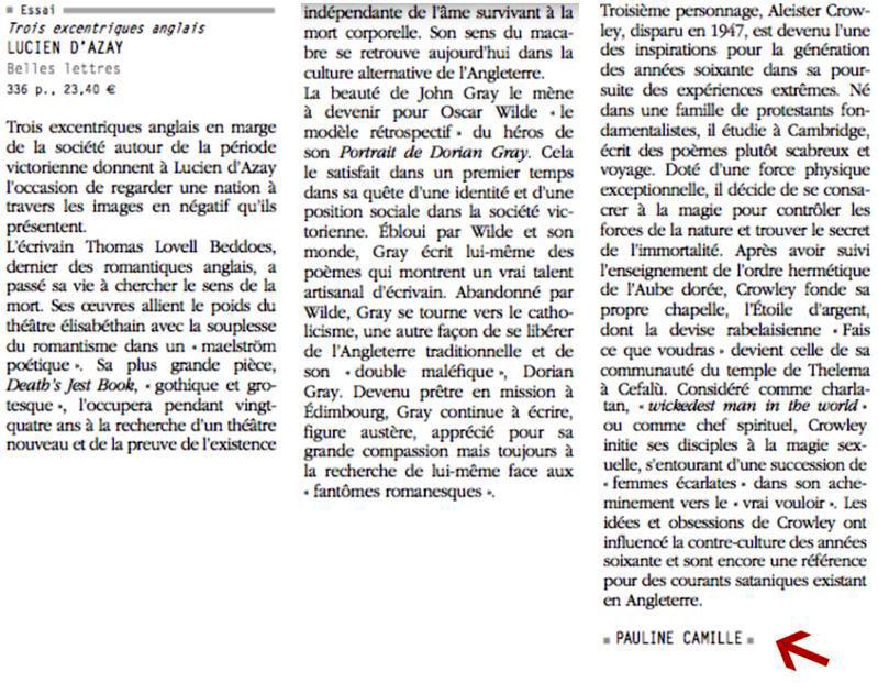 Penelope Fillon-Revue des Deux Mondes-Note de lecture 2