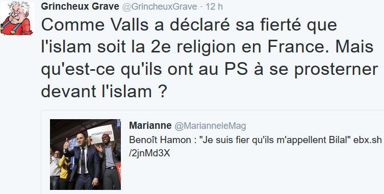 TWEET GG-Le PS prosterné devant l'islam-28.01.2017
