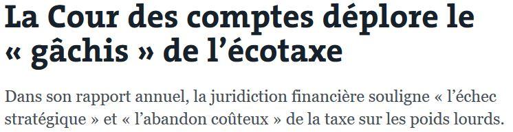 Cour des Comptes-abandon EcoTaxe-08.02.2017