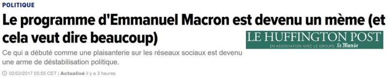 Le programe de Macron est devenu un mème-02.03.2017