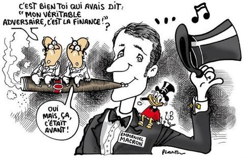 Caricature LE MONDE sur Macron