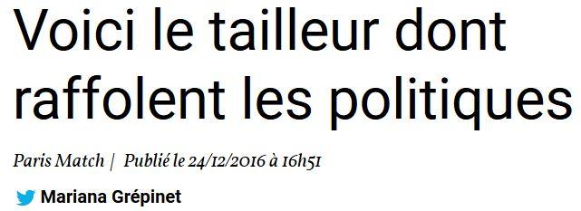 TITRE PARIS MATCH-le tailleur des politiques