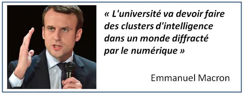 TWEET-Macron des clusters d'intelligence