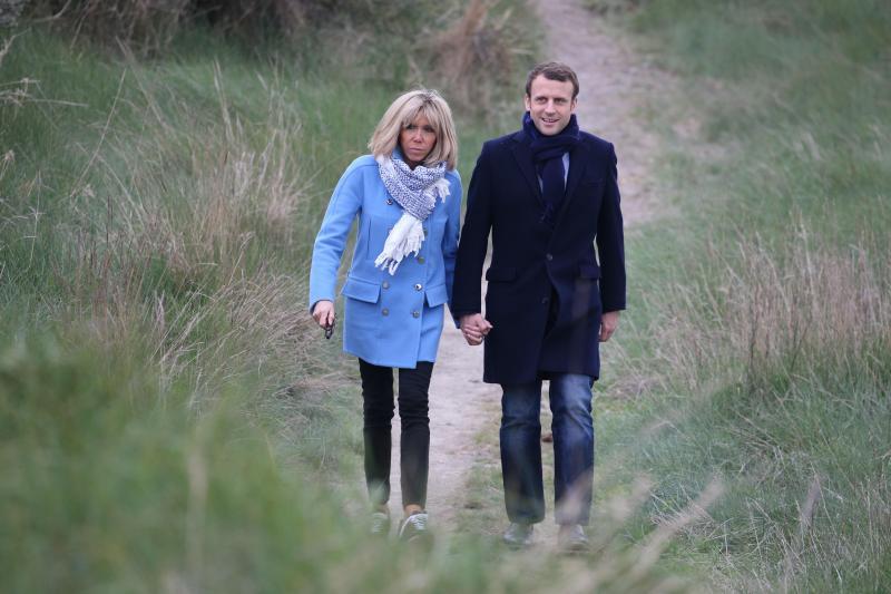 Trogneux-Macron en marche au Touquet-22.04.2017