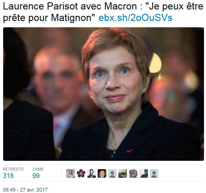 Laurence Parisot prête pour Matignon