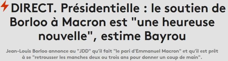 Borloo prêt à travailler avec Macron-30.04.2017
